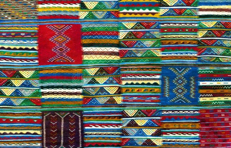 Fondo marocchino del tappeto fotografie stock