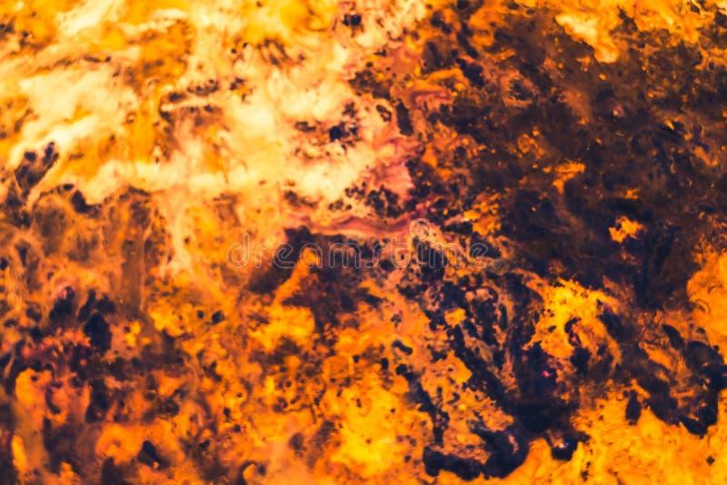 Fondo marrón anaranjado del arte de la pintura de la hoguera del extracto foto de archivo libre de regalías