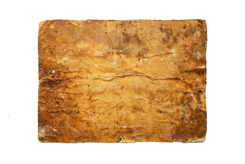 Fondo marrón de la cartulina del vintage Viejo marrón pap de la textura del grunge foto de archivo libre de regalías