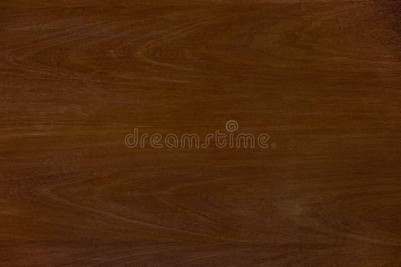 Fondo marrón de madera de la textura del grano de la teca oscura Palmadita del grunge de la naturaleza fotografía de archivo