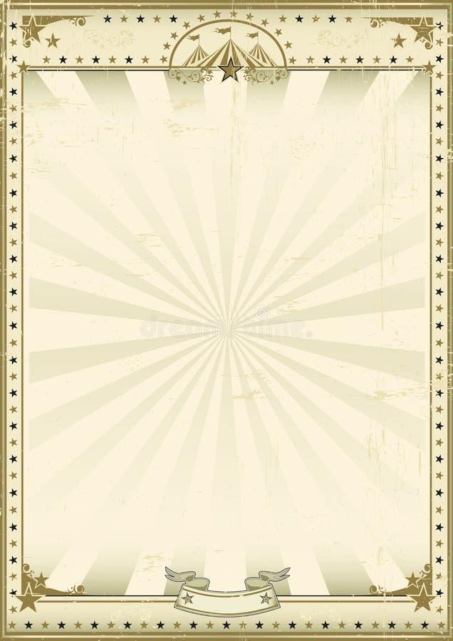 Fondo marrón del vintage del circo ilustración del vector