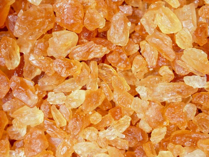 Fondo marrón dulce de la textura de la comida del azúcar de la roca foto de archivo