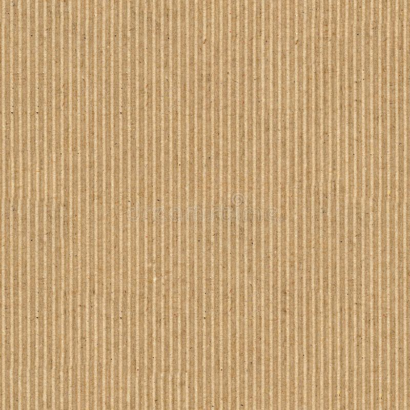 fondo marrón inconsútil de la textura de la cartulina acanalada imagenes de archivo