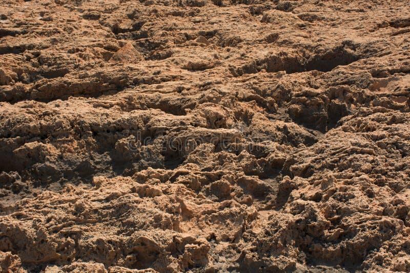 Fondo marrón superficial de piedra, textura desigual de la roca fotos de archivo