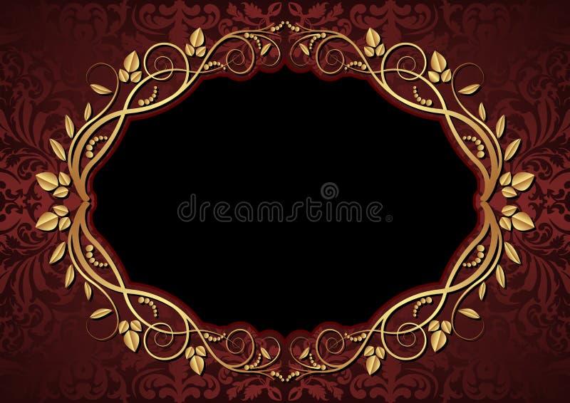 Fondo marrón y negro stock de ilustración