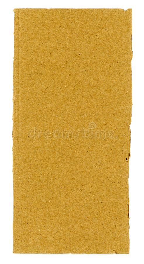 fondo marr?n de la textura de la cartulina acanalada aislado sobre pizca imagen de archivo