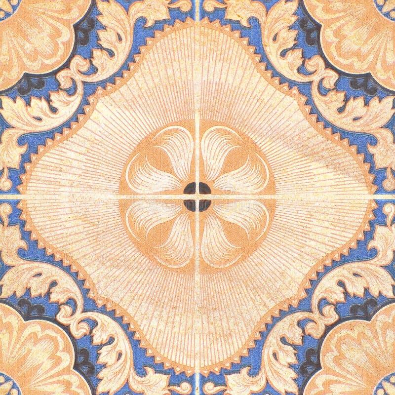 Fondo marrone decorativo delle mattonelle dell'arenaria fotografia stock libera da diritti