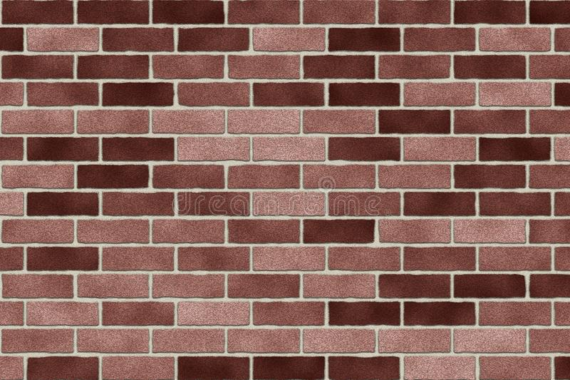 Fondo marrone monocromatico dell'estratto del muro di mattoni Struttura dei mattoni Progettazione del modello per le insegne di w fotografia stock
