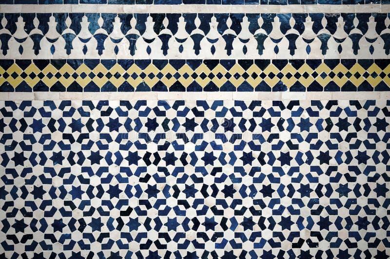 Fondo marroquí de la teja del vintage ilustración del vector