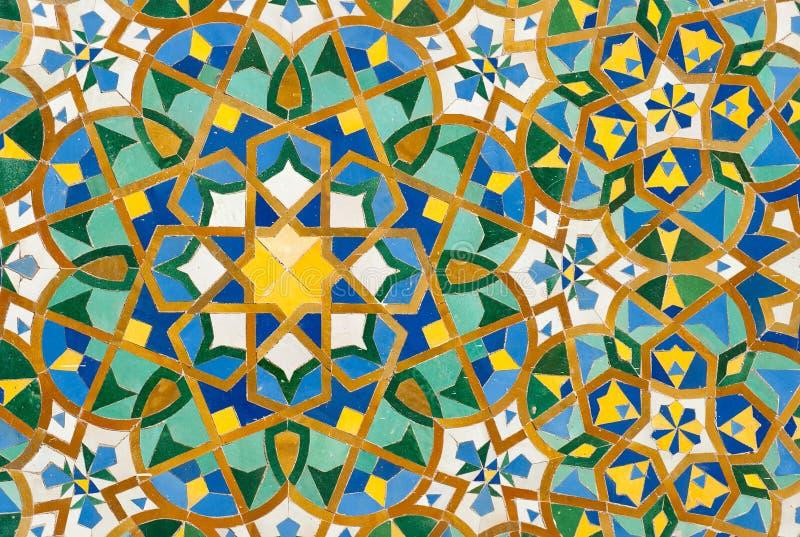 Fondo marroquí de la teja del vintage fotos de archivo