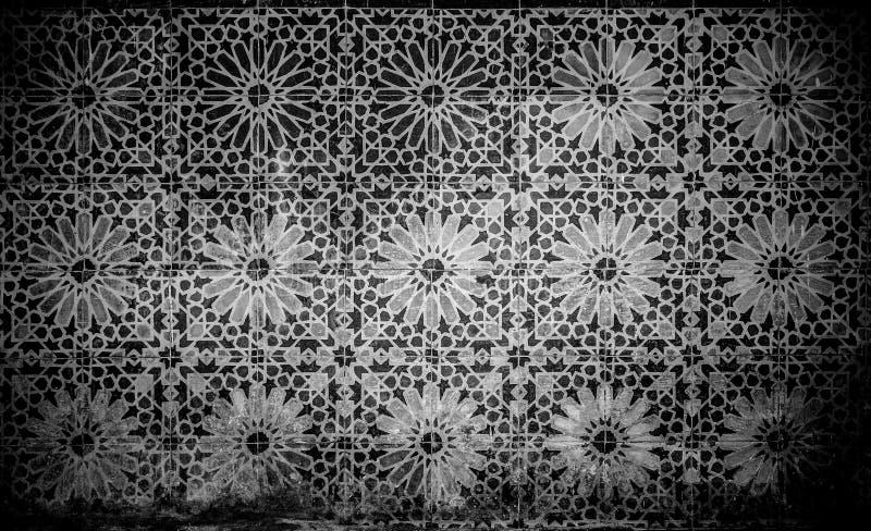Fondo marroquí de la teja del vintage stock de ilustración