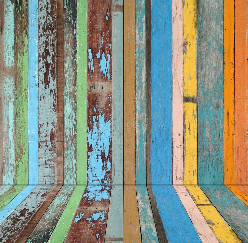 Fondo material de madera para la vendimia ilustración del vector