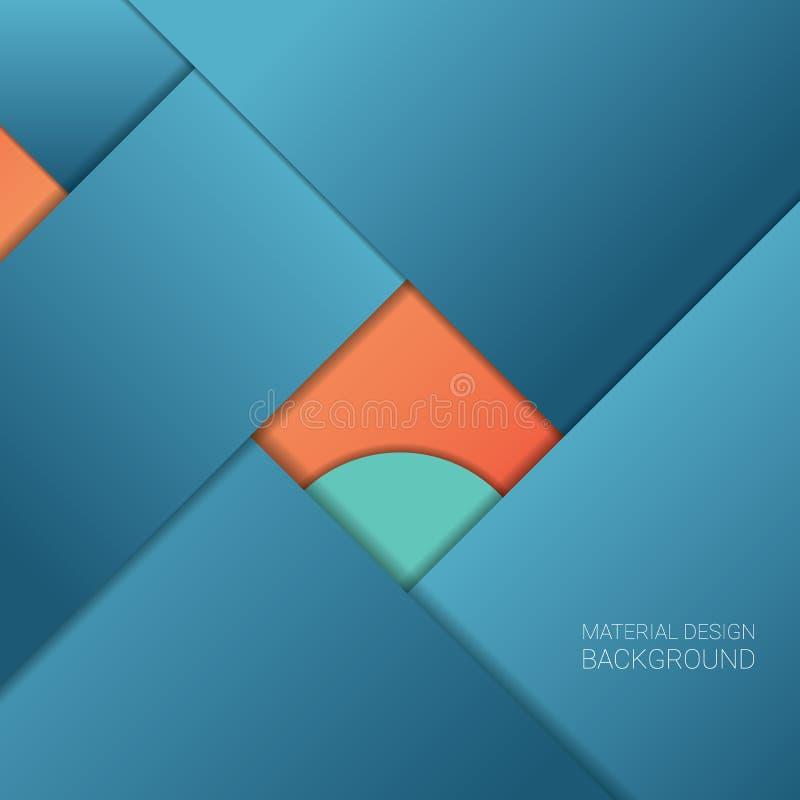 Fondo material del diseño Geométrico simple ilustración del vector
