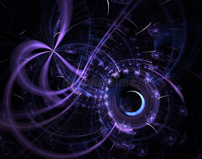 Fondo mec?nico del fractal moderno M?quina de tiempo, ilustraciones digitales para el dise?o gr?fico creativo Steampunk abstracto libre illustration