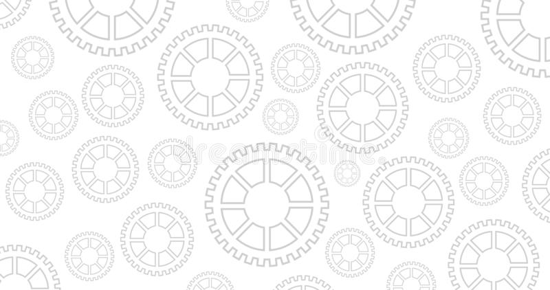 Fondo meccanico del nero dell'ingranaggio o della ruota dentata, illustrazione di vettore del meccanismo illustrazione di stock