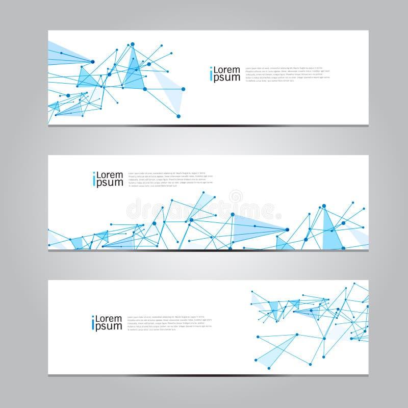 Fondo medico di tecnologia di rete dell'insegna di progettazione di vettore illustrazione vettoriale