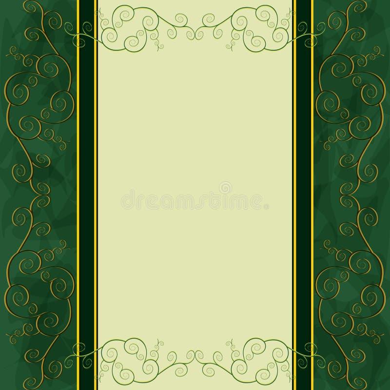 Fondo-menu dell'annata, coperchio, scheda dell'invito illustrazione di stock