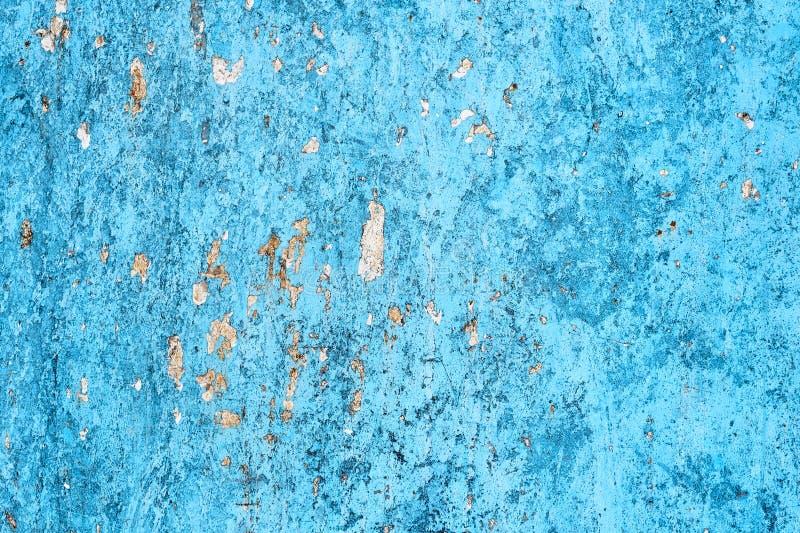 Fondo metálico abstracto azul Moho y rasguño fotografía de archivo