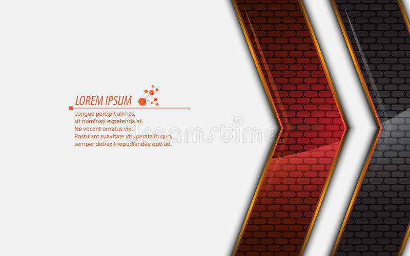 Fondo metálico abstracto del diseño moderno del rectángulo del vector libre illustration
