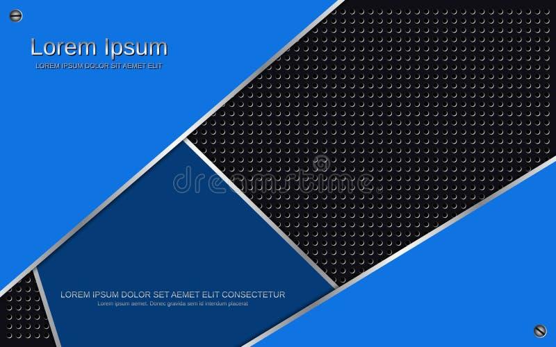Fondo metálico azul oscuro acodado extracto del vector ilustración del vector