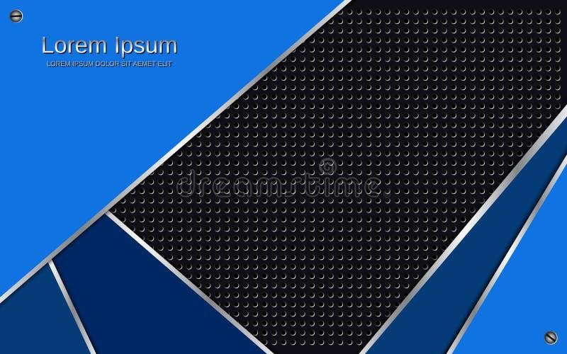 Fondo metálico azul oscuro acodado extracto del vector libre illustration