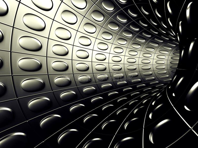 Fondo metálico de aluminio del extracto del túnel ilustración del vector