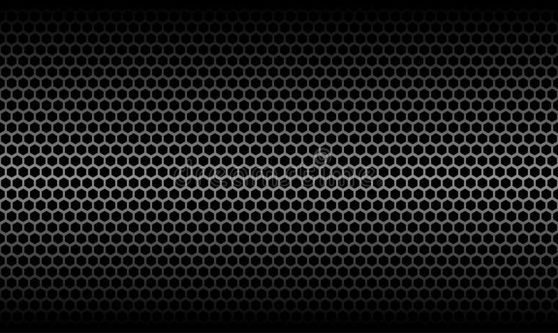 Fondo metálico de la textura del carbono del panal oscuro libre illustration