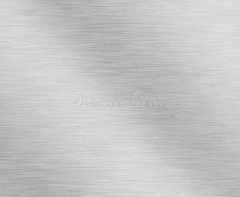 Fondo metálico de plata aplicado con brocha foto de archivo libre de regalías