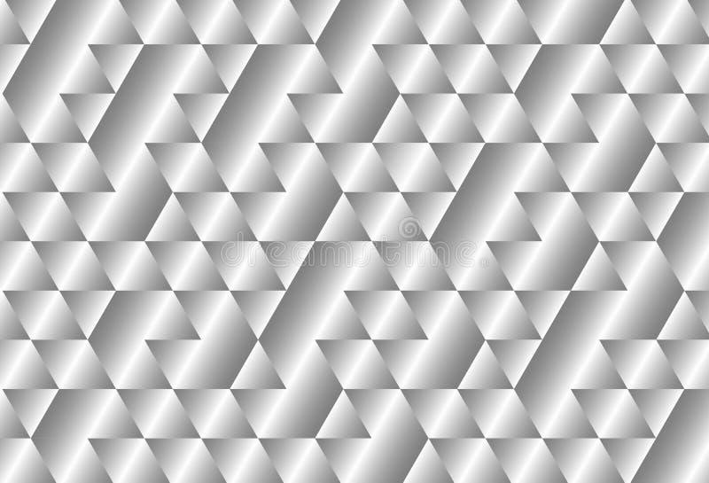 Fondo metálico del modelo de la curva del cuadrado de la pendiente ilustración del vector