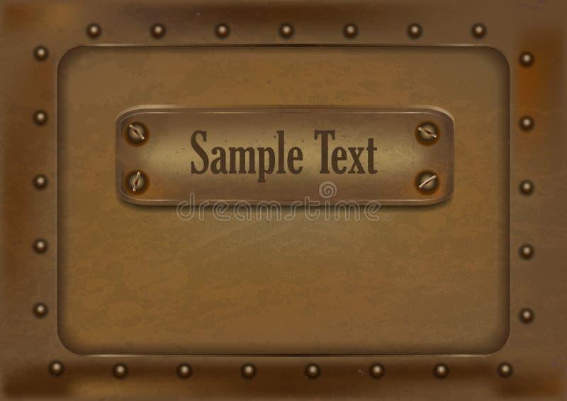 Fondo metálico en el estilo del steampunk Ilustración del vector imágenes de archivo libres de regalías