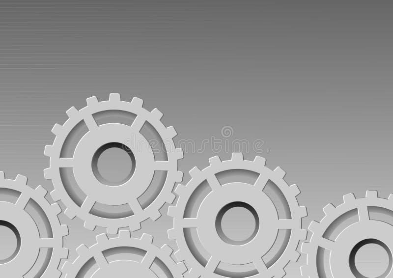 Fondo metálico - engranaje ilustración del vector