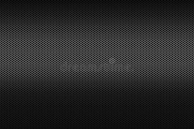 Fondo metálico negro del modelo de la textura de la rejilla del panal del polígono ilustración del vector