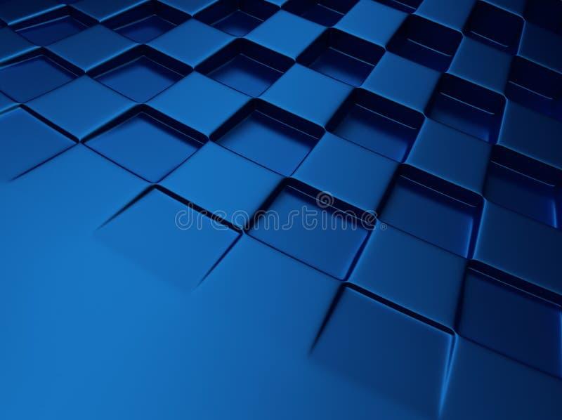 Fondo metallico blu di scacchi illustrazione vettoriale