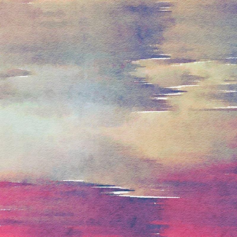 Fondo mezclado acuarela de la textura imagen de archivo