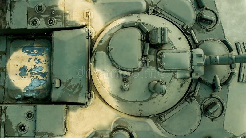 fondo militare Vista superiore del veicolo da combattimento della fanteria fotografie stock