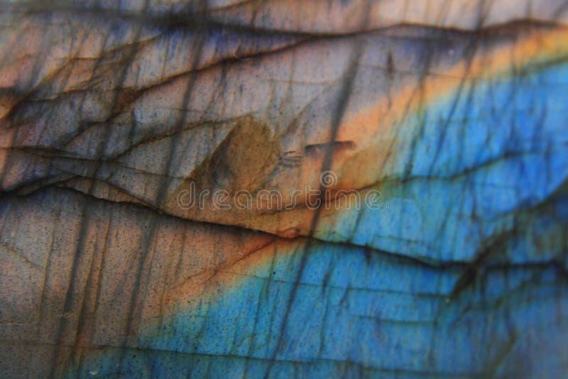 Fondo mineral natural de la labradorita foto de archivo libre de regalías