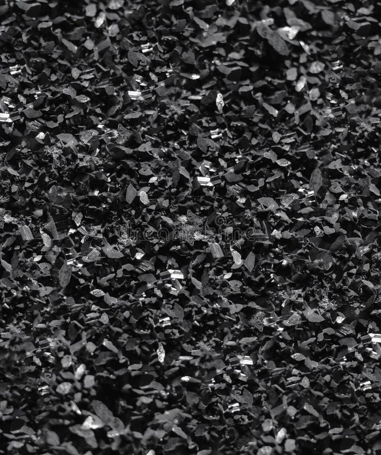 Fondo mineral negro del extracto de la naturaleza de la textura del cuarzo imagen de archivo