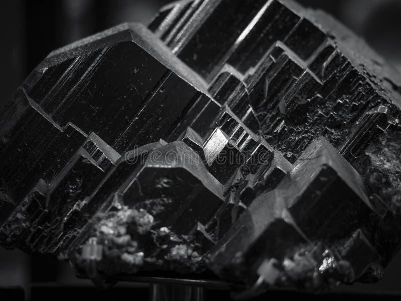 Fondo mineral negro del extracto de la naturaleza de la textura del cuarzo foto de archivo