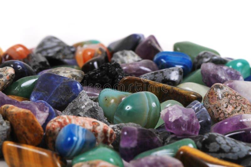 fondo minerale delle gemme di colore fotografie stock libere da diritti