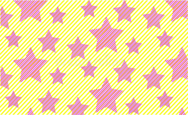 Fondo minimalista de la impresión del rosa de las estrellas del modelo brillante del verano libre illustration