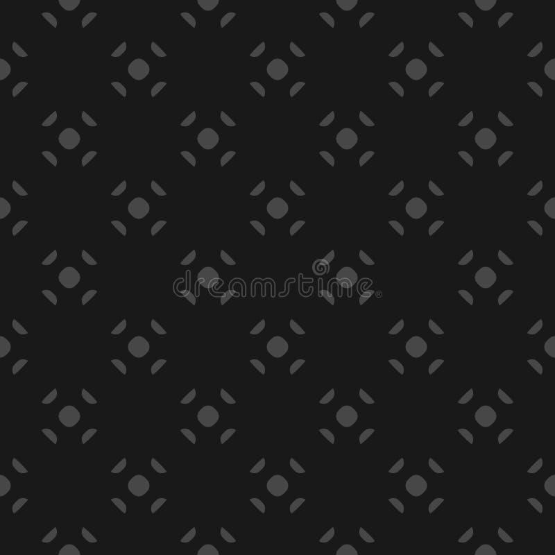 Fondo minimalista di vettore nero e grigio Modello senza cuciture geometrico semplice illustrazione vettoriale