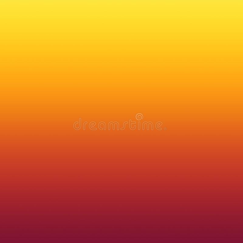 Fondo minimo vago giallo arancione caldo di pendenza dell'estratto illustrazione vettoriale