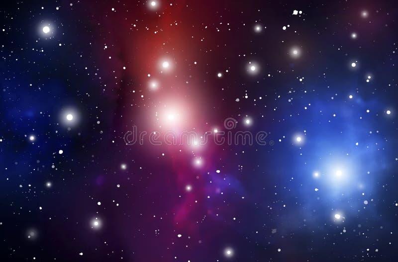 Fondo mistico di astrologia Spazio cosmico Illustrazione di Digital di vettore dell'universo Fondo della galassia di vettore immagini stock
