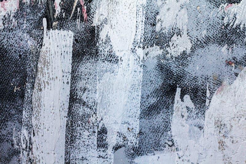 Fondo modelado del púrpura y blanco de la textura Movimientos grandes del cepillo imagen de archivo libre de regalías
