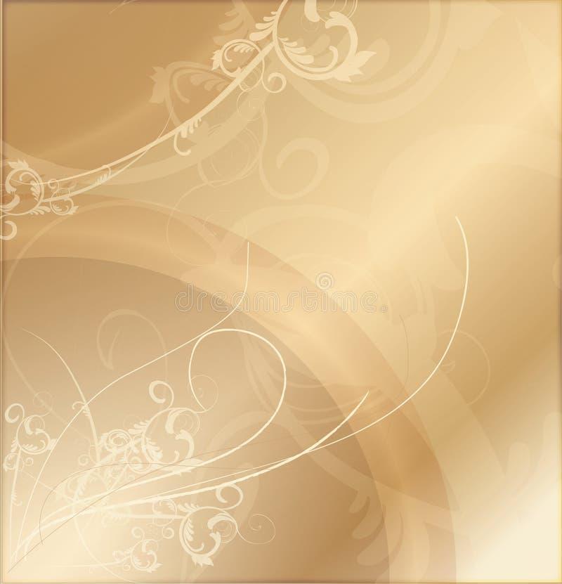Fondo modelado oro ilustración del vector