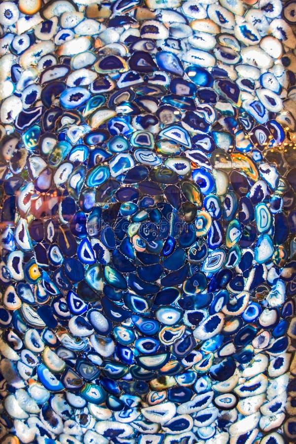 Fondo modelado vidrio Fondo azul de cristal decorativo del vintage Fondo abstracto de la pared de la textura de cristal fotos de archivo