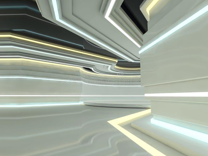 Fondo moderno abstracto de la arquitectura representación 3d ilustración del vector