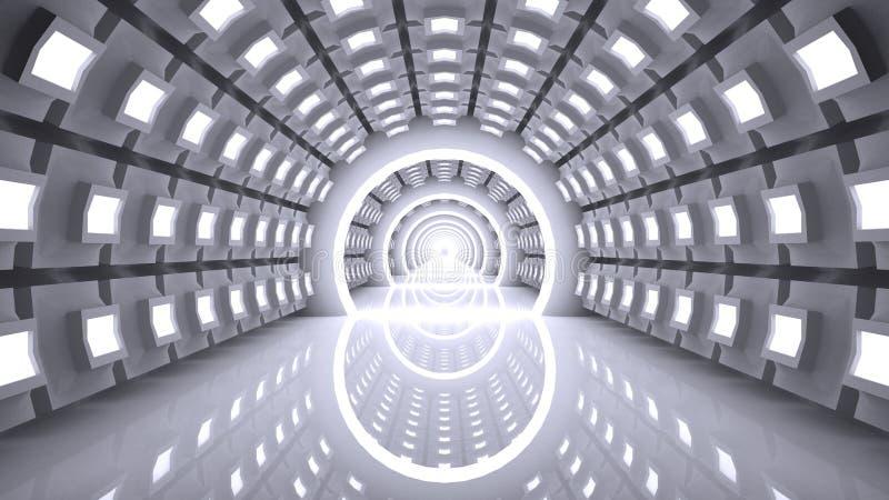 Fondo moderno abstracto, inter futurista vacío ilustración del vector