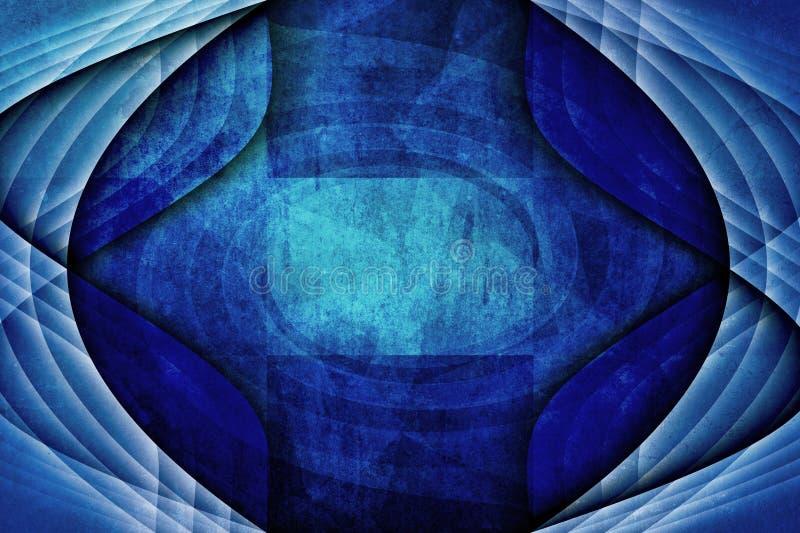 Fondo moderno astratto blu unico di lerciume illustrazione di stock