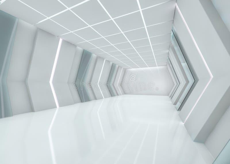 Fondo moderno astratto di architettura rappresentazione 3d royalty illustrazione gratis